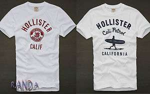 Hollister By abercrombie White t Shirt Graphic Tee Muscle Fit Mens