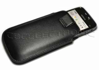 New Black leather Pouch Case Sleeve for Nokia E71 E72