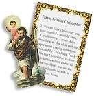 Saint St. Christopher Holy Prayer Card + Safe Travel