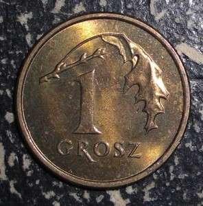 Poland 1 grosz Eagle bird animal coin