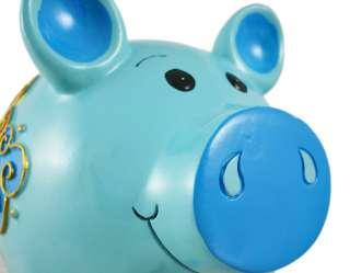 Beautiful Blue Butterfly Art Pig Piggy Bank Coin Money