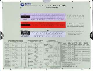 Duct Calculator The Ultimate Duct Sizing Slide Chart