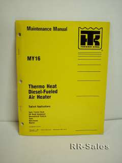 Thermo King MY16 Thermo Diesel Heat Maintenance Manual