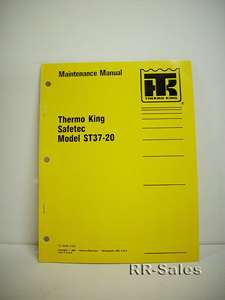 Thermo King Safetec ST37 20 Heater Maintenance Manual