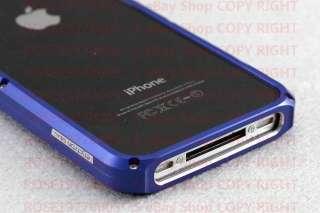 Aluminium Bumper Metal Case Cover f. Genuine Apple iPhone 4 and 4S