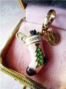 NIB Juicy Couture 2008 Christmas Stocking Yorkie Charm