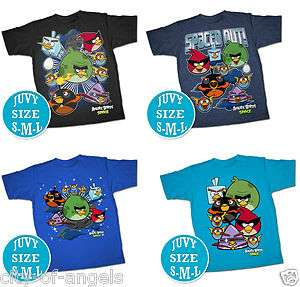 Angry Birds Space Kids T Shirt Official Licensed Funny T Shirt