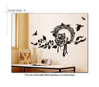 Rose Wreath Wall Decor Removable Vinyl Decal Stickers