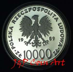 of Poland Polish 10,000zl Commemorative Pope John Paul II Silver Proof