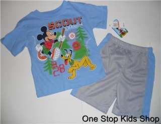 MICKEY MOUSE Boys 2T 3T 4T Set OUTFIT Shirt Shorts DISNEY Pluto
