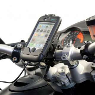MOTORCYCLE BATTERY CHARGER CASE MOUNT KIT FOR IPHONE 4