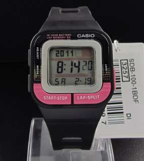 Casio SDB 100 Dial Retro Digital 10 Year Battery Life LED Alarm Auto