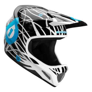661 sixsixone Evolution Wired Full Face Bike Helmet Black Cyan White