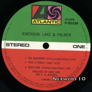 Emerson Lake & Palmer   E. L. P.   LP   Japan with OBI