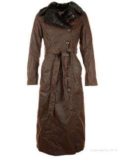 John Partridge Ladies Rosetti Long Coat   Antique Brown WAW103