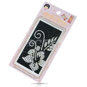 CLEAR FLORAL 3D CRYSTAL DIAMOND PHONE BLING STICKER Electronics