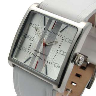 Superb Ben Sherman Mens Watch White leather strap R811