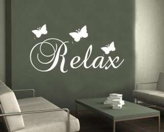 Relax butterfly WALL ART STICKER bedroom bathroom decor