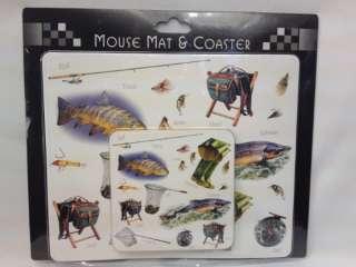 Mouse Mat & Coaster, Fishing Theme