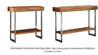 DE SALON CONTEMPORAINE DESIGN TABLE BOIS METAL ALUMINIUM COLLECTION