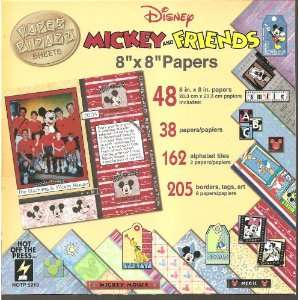 Disney Mickey & Friends 8 x 8 Scrapbook Kit Papers