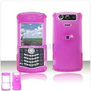 Hot Pink Crystal Clear Transparent Case Cover for Brand RIM BlackBerry
