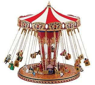 Mr. Christmas Worlds Fair Swing Carousel   QVC