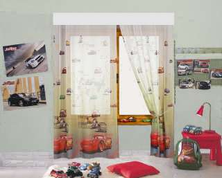 DESIGN AUTO CARS II GARDINE 1 TEIL 1x(160x126) KINDERZIMMER DISNEY TOP