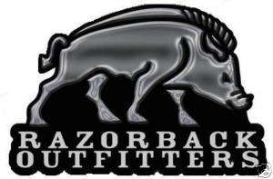 RAZORBACK OUTFITTERS DECAL STICKER HOG HUNTING