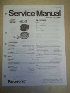 Panasonic Service Manual~SL SW870 Shock Wave CD Player~Original