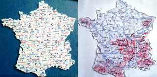 SCOLAIRE 2 cartes FRANCE plastique superposables NEUVES