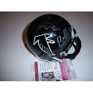 Signed Bobby Bell Mini Helmet   Jessie Tuggle william
