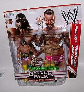 WWE WRESTLING BATTLE PACK LEGEND VS SUPERSTARS MACHO MAN RANDY SAVAGE