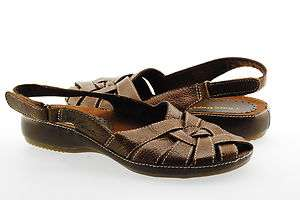 Bare Traps Fayette Womens Strappy Slingback Sandal Shoe Brown Leather