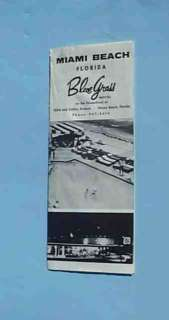 vintage Miami Beach Florida Blue Grass Motel brochure