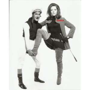 The Avengers Diana Rigg with Horse Jockey holding up her