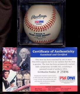 Gene Stallings AUTO Baseball Signed PSADNA ALABAMA TAMU