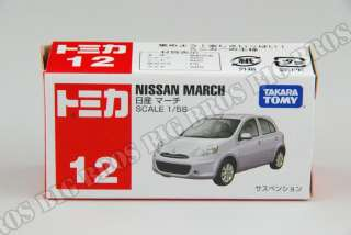TOMY TOMICA #12 Nissan March 1/58 Diecast Model Toy Car