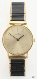 Vintage 1950s 18K Gold Movado 17 Jewel Mens Wristwatch
