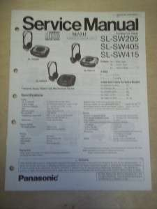 Panasonic Service Manual~SL SW205/SW405/SW415 Shock Wave CD Player