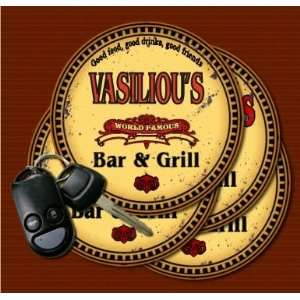 VASILIOUS Family Name Bar & Grill Coasters: Kitchen