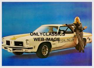 HURST OLDS PACE CAR LINDA VAUGHN INDY 500 PHOTO  PIN UP