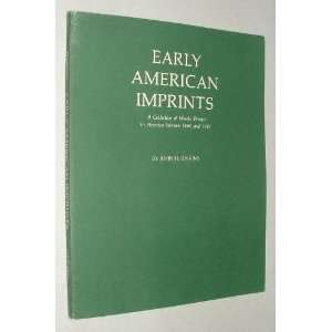 In America between 1669 and 1800 Catalogue 110: John Jenkins: Books