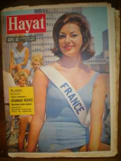 Actress Monique Lemaire Turkish Magazine Hayat 1963