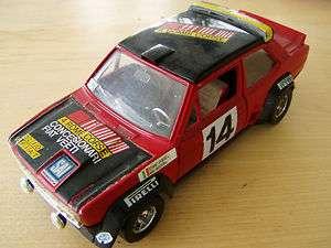 FIAT 131 ABARTH BURAGO 1/24 ROUGE/NOIR 4 BOMBI CORSE 0145