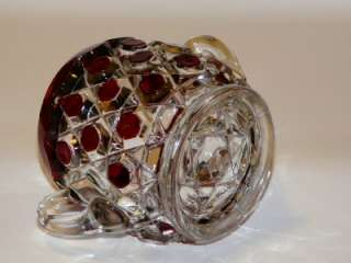 EAPG Doyle Glass Ruby Glass Sugar Bowl Eva Pattern