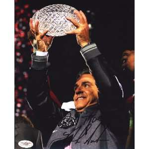NICK SABAN ALABAMA CRIMSON TIDE SIGNED 8x10 PHOTO JSA