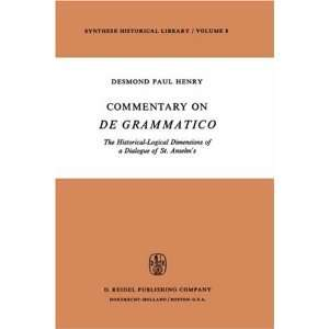 Historical Library) (9789027703828): Desmond Paul Henry: Books