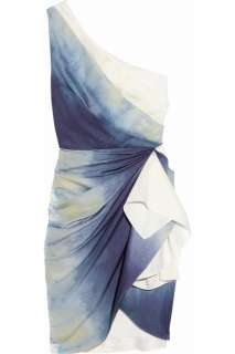 Alice + Olivia Bree one shoulder tie dye silk dress   44% Off Now at