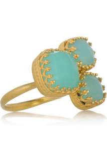 Kevia 22 karat gold plated cluster ring   60% Off Now at THE OUTNET